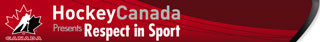 Logo for Hockey Canada- Respect in Sport login